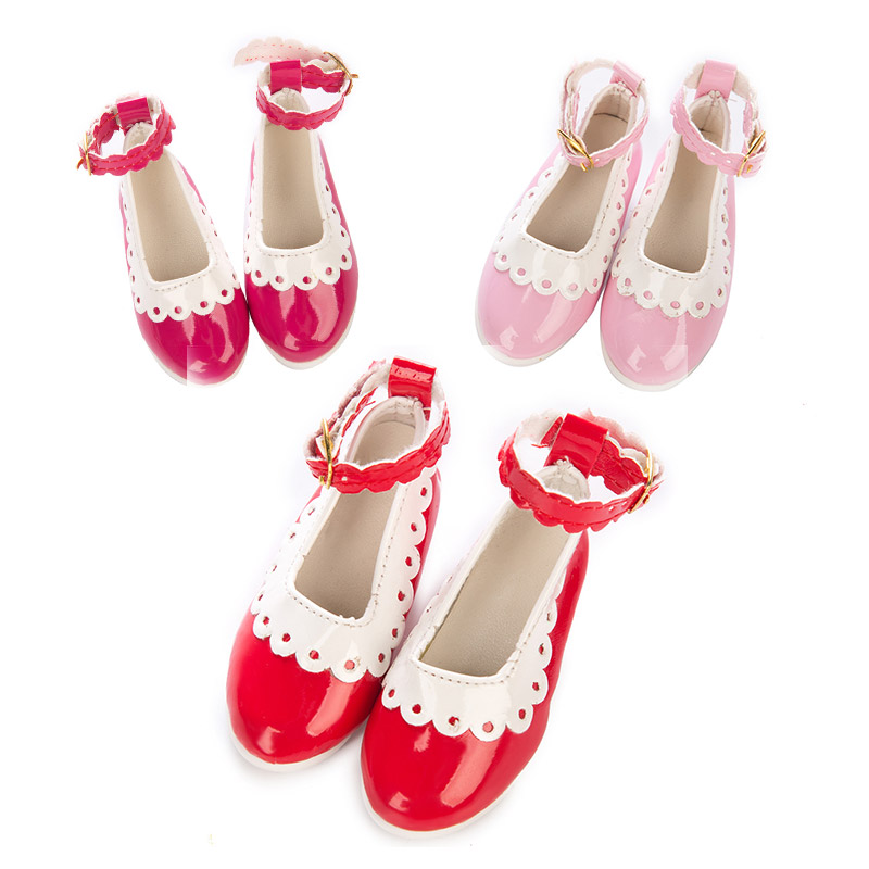 Doll Shoes 3 Style Casual Cute BJD Doll Lace Leather  Shoes For 18 Inch American Doll For Generation Girl`s Toy Doll Accessories