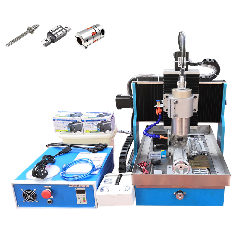 3040L 2200W CNC router USB 4Axis Metal Engraving Machine linear guideway steel table