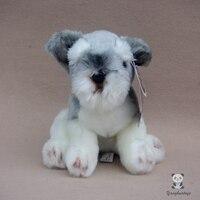 Simulation Plush Toys Large Schnauzer Cute Dog Doll Ornaments Children'S Toy Birthday Gift
