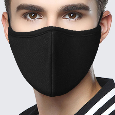 1Pcs Nano-polyurethane Black Mouth Mask Anti Dust Mask Activated Carbon Windproof Mouth-muffle Bacteria Proof Flu Face Masks