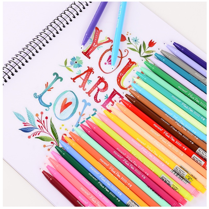 12/24/36 Water Color Gel Pens Set 0.3mm Rainbow Liner Pen For Writing Drawing Sketch Stationery Gift Office School Supplies F261