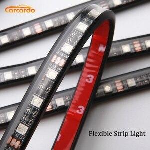 Image 2 - Carcardo Car LED Atmosphere Neon Light Lamp LED Wireless Remote Multi Color RGB Strip Car Interior Lighter