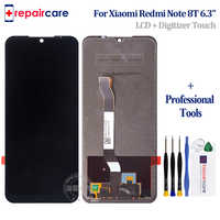 Pantalla LCD Original de 6,3 pulgadas con marco para Xiaomi Redmi note 8T, montaje de ditizador de pantalla táctil, negro, azul, para Xiaomi Redmi Note 8T