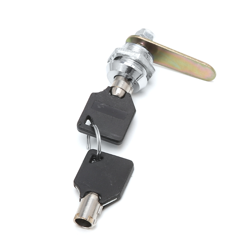 Drawer Tubular Cam Lock For Door Mailbox Cabinet Cupboard w 2 Keys 16 30mm in Locksmith Supplies from Tools