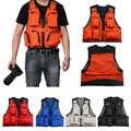 1 Pc Multi-Pocket Fly Fishing Vest Jacket All'aperto Tasca Sul Petto Quick-Dry Maglia di Pesca di Sicurezza Gilet di Sopravvivenza utilità Della Maglia