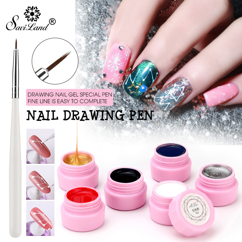 Saviland Nail Art Tools Painted Gel Liner Nail Art Painting Patter Pulling Silk Spider Drawing Painted Wire Uv Gel Nail Polish Buy At The Price Of 0 69 In Aliexpress Com Imall Com