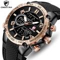 CHEETAH Uhr Top Marke Mode Analog Digital Dual Display Männer Uhren Herren Casual Sport LED Chronograph Wasserdichte Armbanduhr