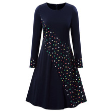 Zanzea Lanon Dress Women Fall And Fashion New Long-sleeved Round-necked Little Fragments Womens Dresses In Europe America 2019