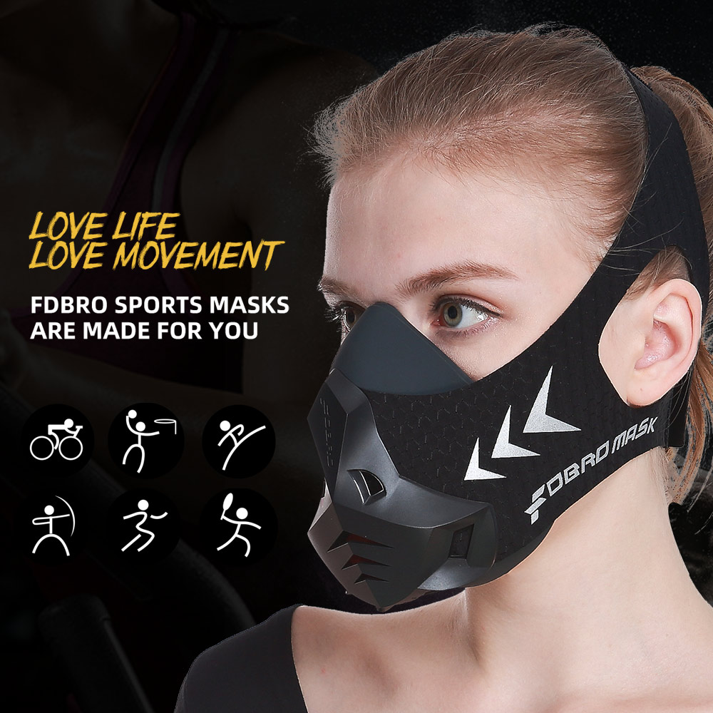 Image 2 - FDBRO Fitness training sports mask Pro Exercise Workout Running Resistance Cardio Endurance sport High Altitude Athletics Mask-in Masks from Security & Protection