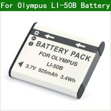 LI-50B LI50B цифровой Камера Батарея для цифровой камеры Olympus TG-620 TG-630 TG-805 TG-810 TG-820 TG-830 TG-850 TG-860 TG-870 VH-520 VR-340