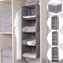 Hangers-Holder Closet-Organizer Wardrobe Hanging Storage-Bag Drawer-Type Interlayer Portable