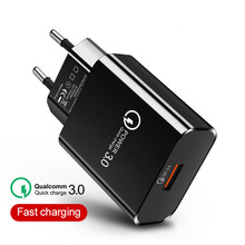 Quick Charge 3.0 USB Phone Charger 18W QC3.0 Fast charger USB portable Charging Mobile Phone Chargers For iPhone Samsung Xiaomi mobile phone chargers nobby nbe tc 30 01 quick fast accessories telecommunications usb
