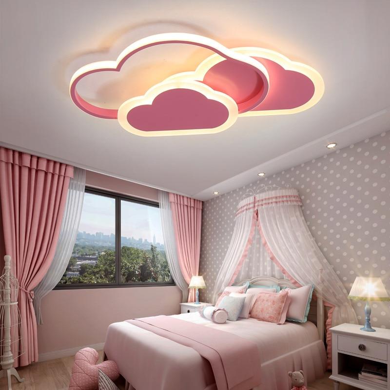 Led Ceiling Lamp For Children S Room Bedroom Modern Dimmable Lighting Fixtures Child Cloud Ceiling Lamps Children Ceiling Light Ceiling Lights Aliexpress