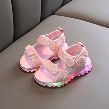 2020 new arrival kids sandals glowing kids sandals with light toddler girls
