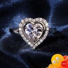 BaliJelry luksusowe kobiety pierścień ze srebra próby 925 biżuteria w kształcie serca AAA kamień cyrkonowy pierścienie na ślub zaręczyny akcesoria