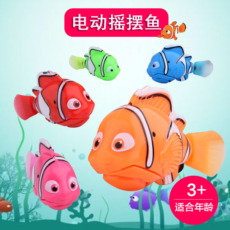 Baby Bath Toy Finding Nemo 2 Nemo Clownfish Electric Fish Can Swim Play With Water Sensing Fish Toy