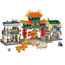 LOZ MINI Blocks Chinese-Traditional Education/dragon Dance/chinatown Spring Culture Eve