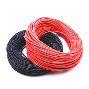 50m 16AWG Heatproof Soft Silicone Wire Cable 200 degree For RC Airplane Model Battery Motor Part (252/0.08, OD: 3.0) 6 colors