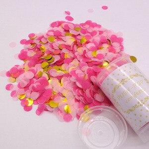 Image 4 - 1 ชุด PUSH POP สีชมพู Confetti Poppers สำหรับงานแต่งงานวันเกิดดอกไม้กระดาษรอบ Confetti DOTS PARTY ตกแต่ง