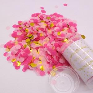 1 комплект, розовые конфетти, Poppers для свадьбы, с днем рождения, бумажные мини-Круглые Конфетти в горошек, украшение для вечеринки