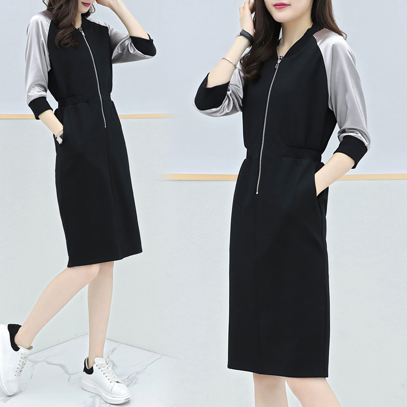 Fashion and temperament ladies dress long sleeved women office casual business