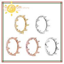 2020 New 925 Sterling Silver Pan Ring Shining Magic Crown Pan Ring For Women Wedding Party Gift Fashion Jewelry