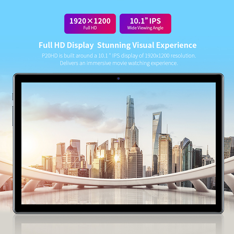 Teclast P20HD 10.1 Inch Tablet Android 10 1920x1200 Octa Core 4GB RAM 64GB ROM Dual 4G Phablet AI Speed-up Tablets PC Dual Wifi 5