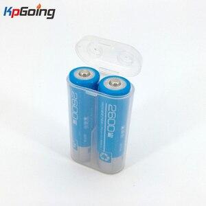 Image 1 - 2600mAh Portatile di Trasporto 18650 Contenitore di Batteria di Caso Di Immagazzinaggio Scatola di Acrilico Trasparente di Plastica trasparente di Sicurezza Box per 2pcs 18650 batteria