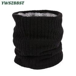 Unisex Winter Boys Girls Women Men Warm Knitted Scarves Kids Velvet Elastic Mufflers Children Neck Warmer Crochet Baby Scarf