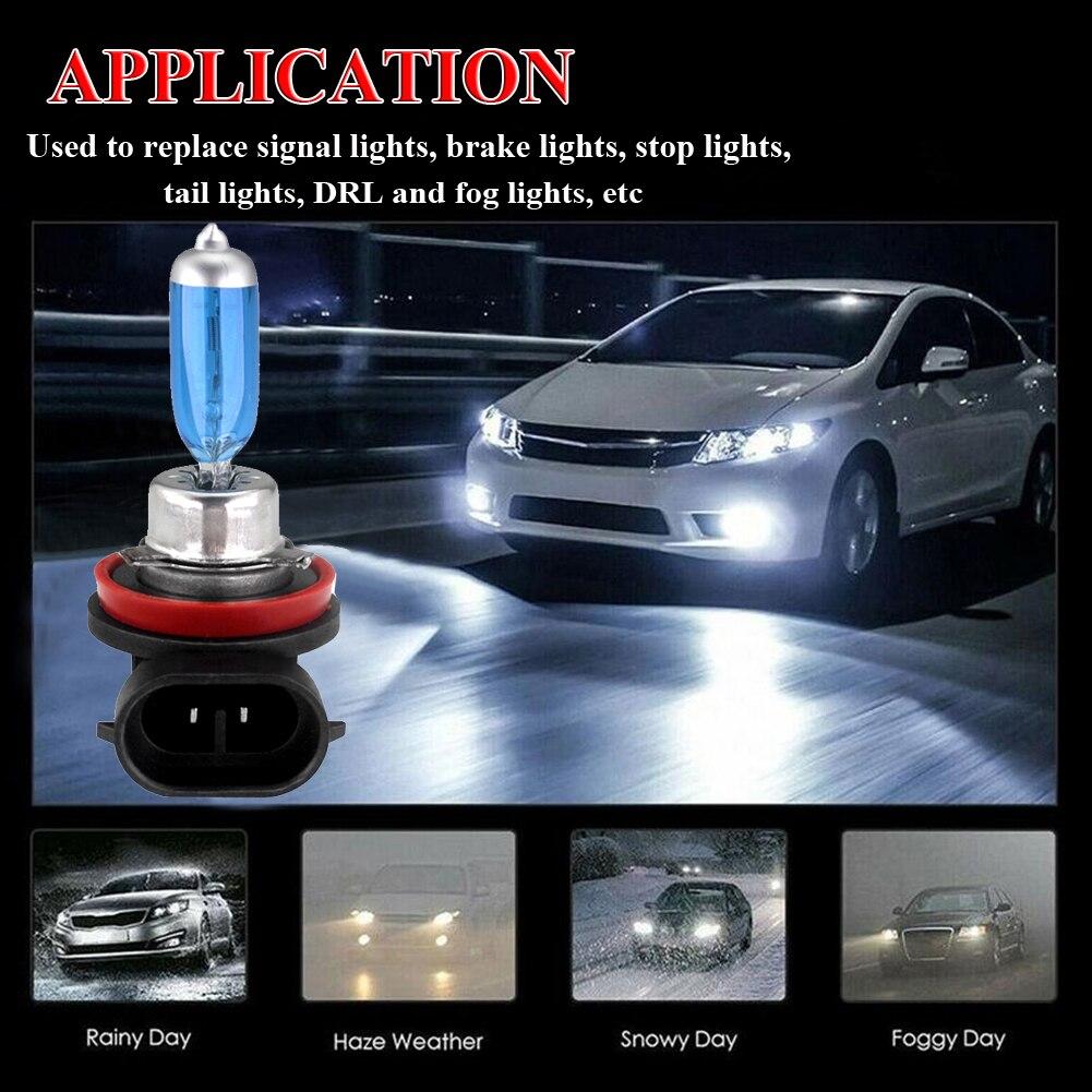 2x H11 12V 55W Ксеноновые белые 5000k Галогенные синие Автомобильные фары лампы шаровые лампы HID