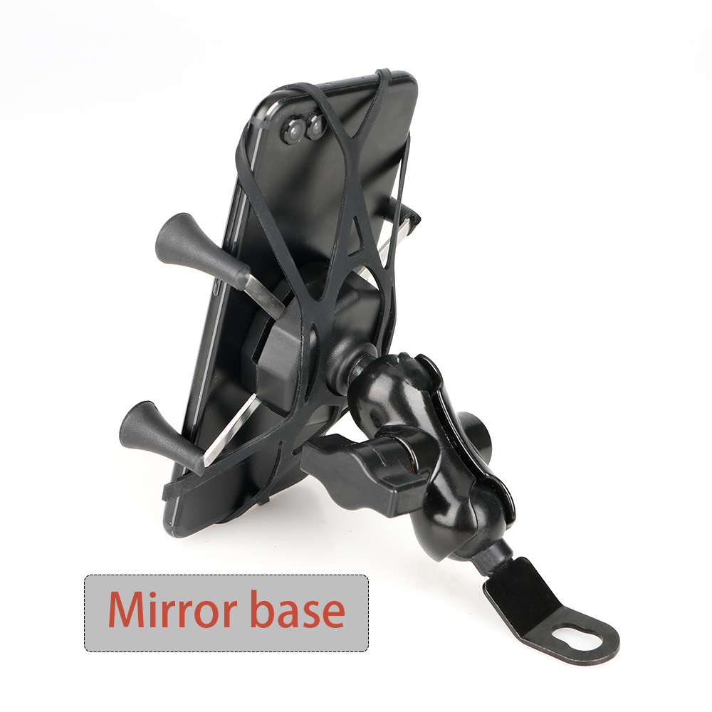 Motorcycle Mobile Phone Holder Mount Support With USB Charger 360 Degree Rotation for Moto 3.5-6 inch GPS Scooter Accessories(China)