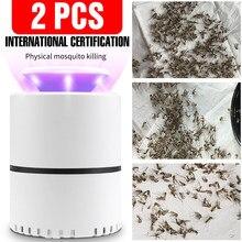 Lampe LED anti-moustiques électrique USB 5V, 2 pièces, piège à lumière LED, lutte contre les parasites, photocatalyse, silencieux