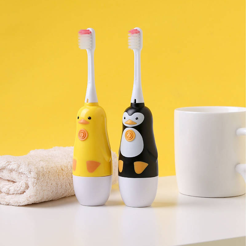 Children Cartoon B.Duck Battery Electric Toothbrush Sonic Soft Bristles Toothbrush Baby Timer Waterproof Automatic Brush