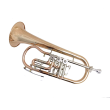 Bb Flugelhorn Gold brass with case mouthpiece trumpets Flugelhorn musical instruments