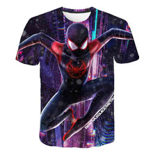 Boys Summer Clothes Children T shirts Shirt Spiderman Homecoming Ironman Stark Pride Cool Superhro Funny Pattern Kids Tee