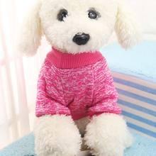 Трикотажный костюм для кошки, собаки, вязаный свитер, свитер для питомца, Классическая мода, удобный XS-L, акриловая пряжа, пальто, теплая одежда, зима, осень, щенок