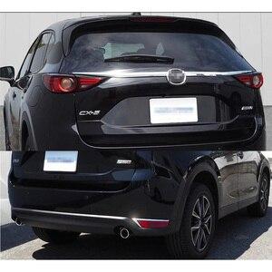 Image 2 - For Mazda CX 5 CX5 2017 2018 2019 2020 KF Car Rearguard Trunk Rear Bumper Tail Box Door Trim Stickers Strip Garnish Styling