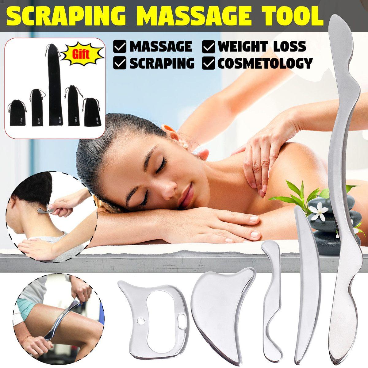 304 Edelstahl Gua Sha Guasha Massager Werkzeug Schaber Physikalische Therapie Lose Muscle Meridian Massage Maschine SPA Bord Werkzeug