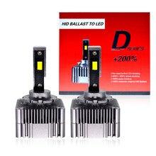 HCDLT 2021 NEW D1S D3S LED Canbus Headlight Bulb Plug Play To Original HID Conversion Ballast Super White D2S D4S LED Light Bulb