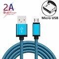 Микро USB кабель 2A Быстрая зарядка нейлоновый usb-кабель для зарядки и синхронизации данных мобильный телефон зарядное устройство кабель для ...