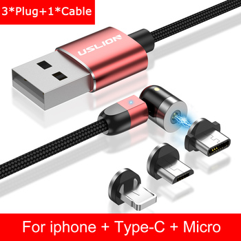 Καλώδιο Μαγνητικής Φόρτισης micro usb Για iphone samsung usb c Γρήγορης Φόρτισης
