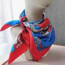 Large Square 100% Twill Silk Scarf Wraps Shawl 88*88cm
