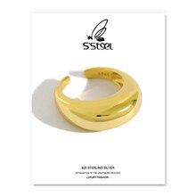 Bague géométrique en Argent Sterling 925 pour Femme, bijou coréen redimensionnable, fait à la main, 925, 2021