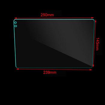 Szklany ochraniacz ekranu Film naklejki samochodowe na 9 #8222 10 1 #8221 Radio samochodowe samochodowy odtwarzacz dvd GPS ochronna folia ze szkła hartowanego naklejka tanie i dobre opinie 250*145*239mm 10 1inch Tempered Glass 250cm 0 2kg 145cm