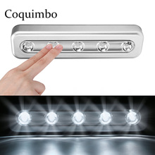 5 СВЕТОДИОДНЫЙ беспроводной шкаф светильник светодиодный с клейкой наклейкой на батарейках лампа шкаф гардероб лестница кухня спальня лампа для ящика