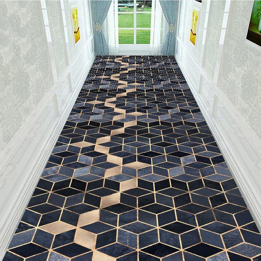 Geometric Style Long Carpet For