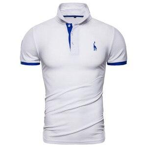 Image 2 - دروبشيبينغ 13 ألوان ماركة جودة القطن Polos الرجال التطريز بولو الزرافة قميص الرجال خليط غير رسمي الذكور ملابس علوية الرجال
