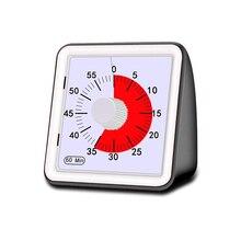 Temporizador de cocina para estudiantes, analógico, Visual, silencioso, 60 minutos, herramientas de gestión de cocción con cuenta regresiva, ajustables para adultos y el hogar