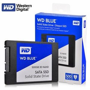 """Image 1 - オリジナル WD ブルー 3D NAND SSD 250 ギガバイト 500 ギガバイト 1 テラバイト 2 テラバイト内部 SATA3 2.5 """"ソリッドステートドライブハードディスク WESTERN DIGITAL のラップトップのためのない"""