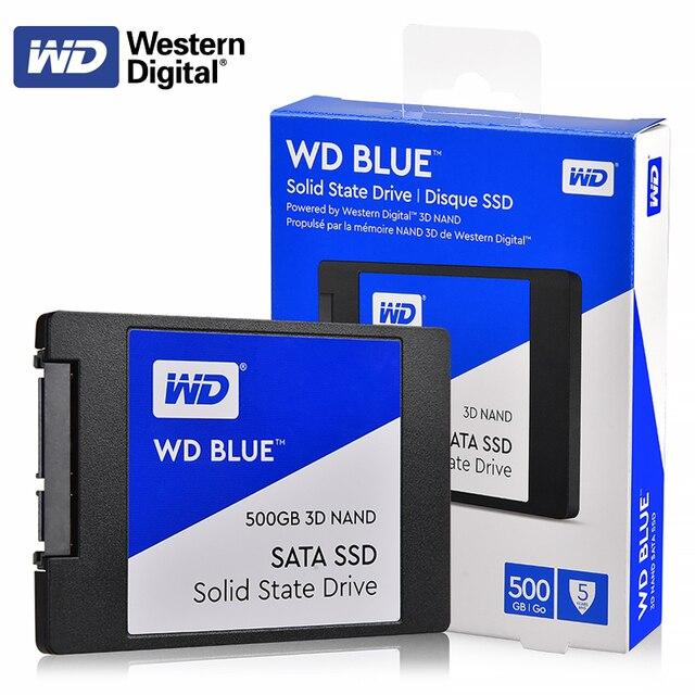 """オリジナル WD ブルー 3D NAND SSD 250 ギガバイト 500 ギガバイト 1 テラバイト 2 テラバイト内部 SATA3 2.5 """"ソリッドステートドライブハードディスク WESTERN DIGITAL のラップトップのためのない"""